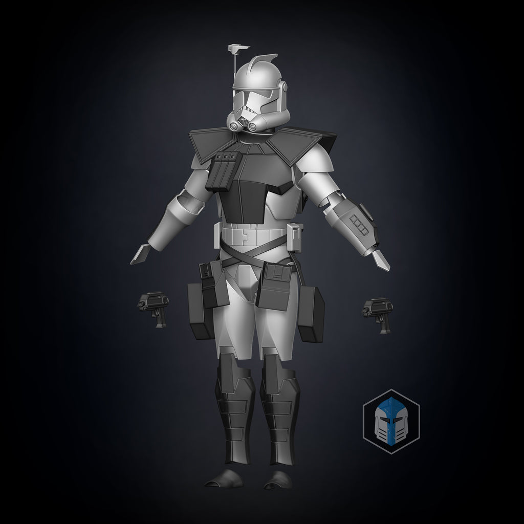 Animated ARC Trooper Armor Accessories - 3D Print Files - The Galactic Armory