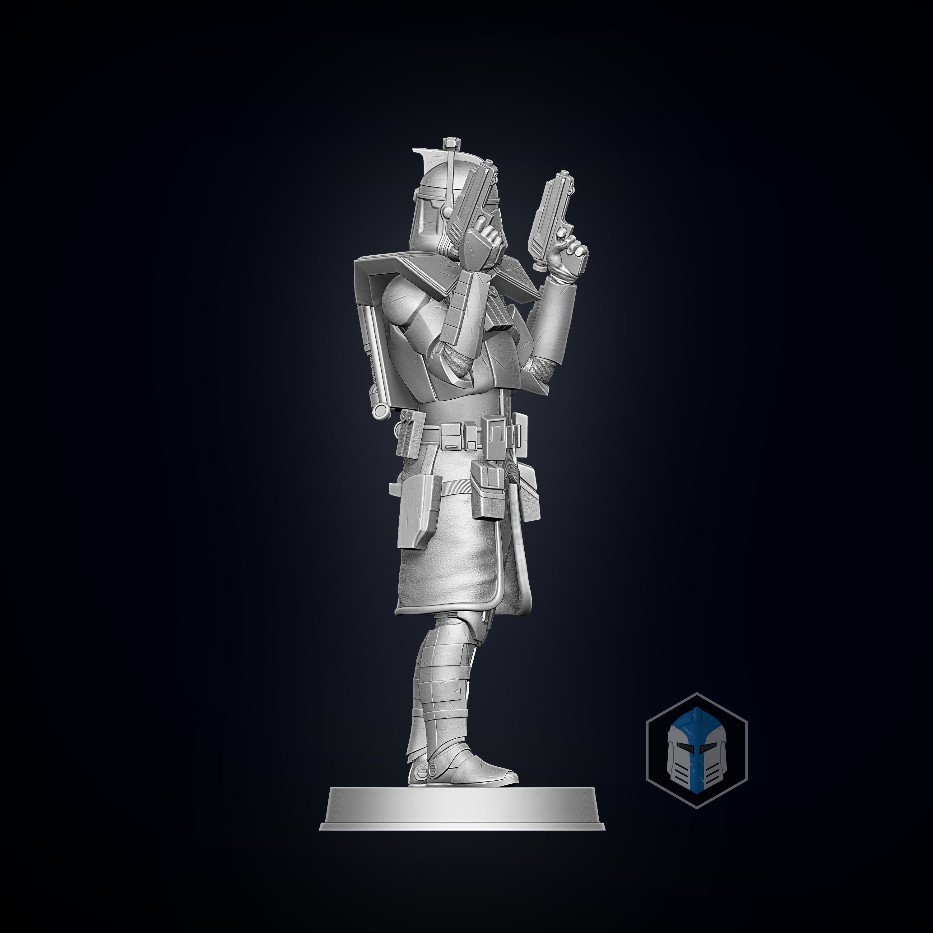 ARC Trooper Figurine - Pose 1 - 3D Print Files - Galactic Armory