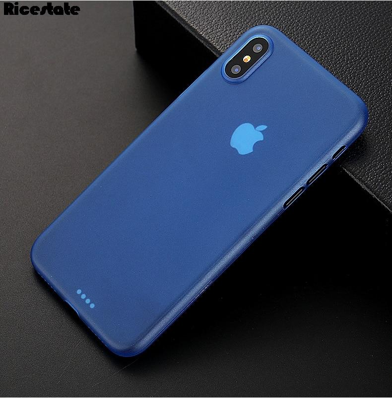 0.3mm Ultra-Thin Matte Transparent Cover Case For iPhone