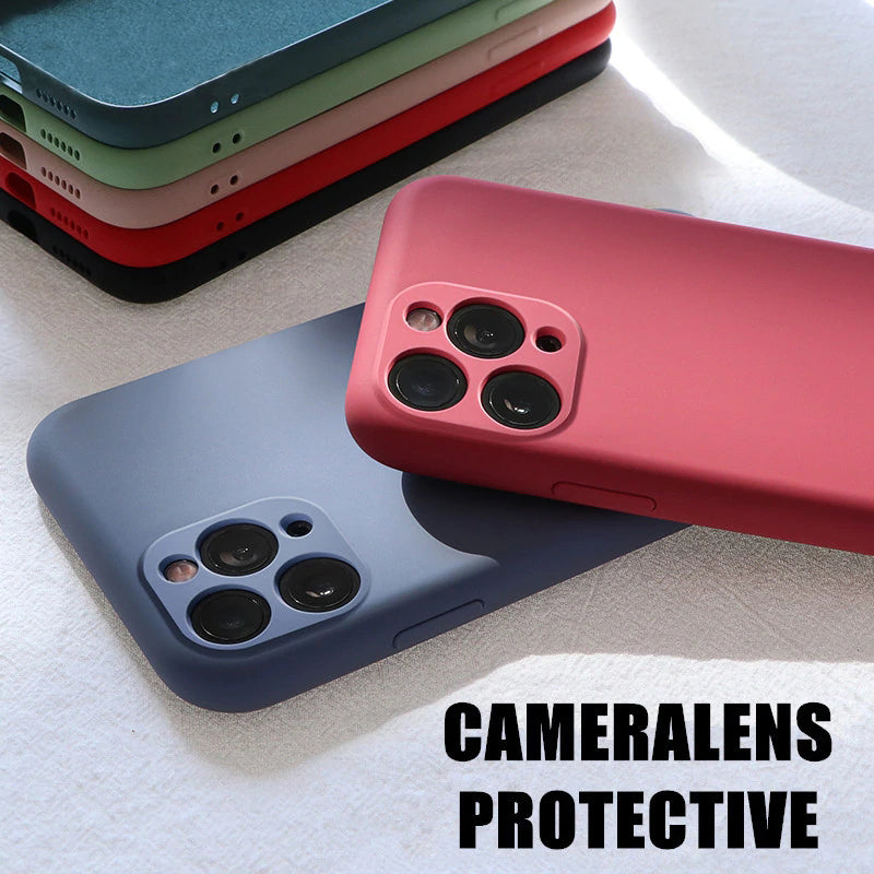 Original Liquid Silicone Camera Protection For iPhone