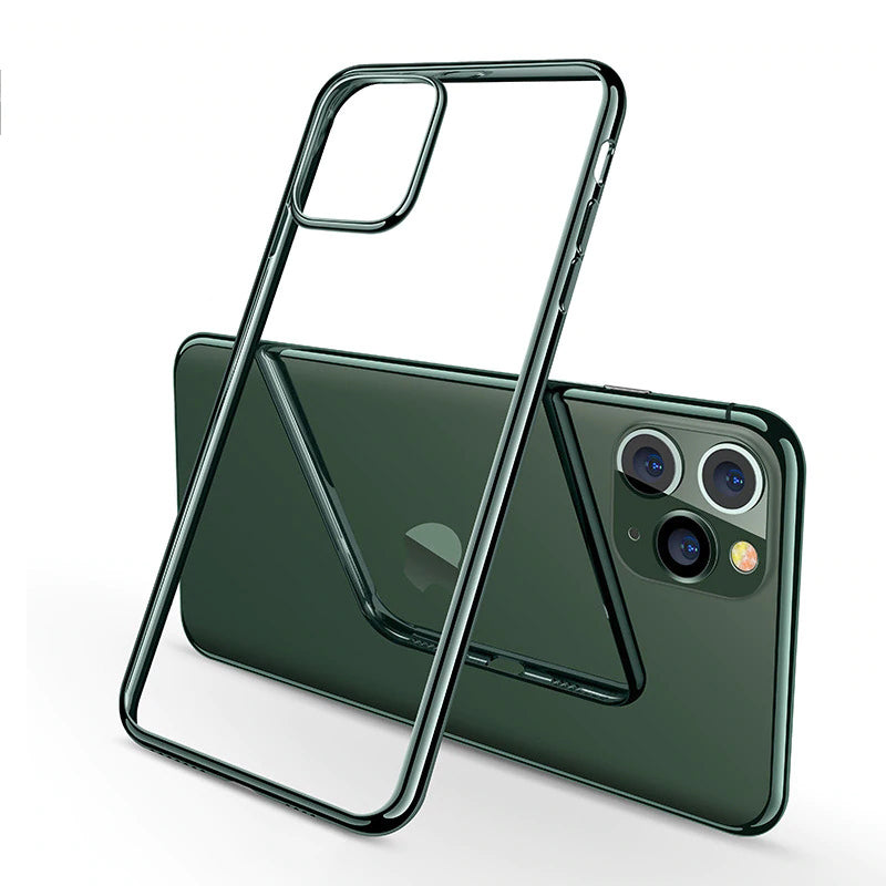 Luxury Midnight Green Plating Case for iPhone