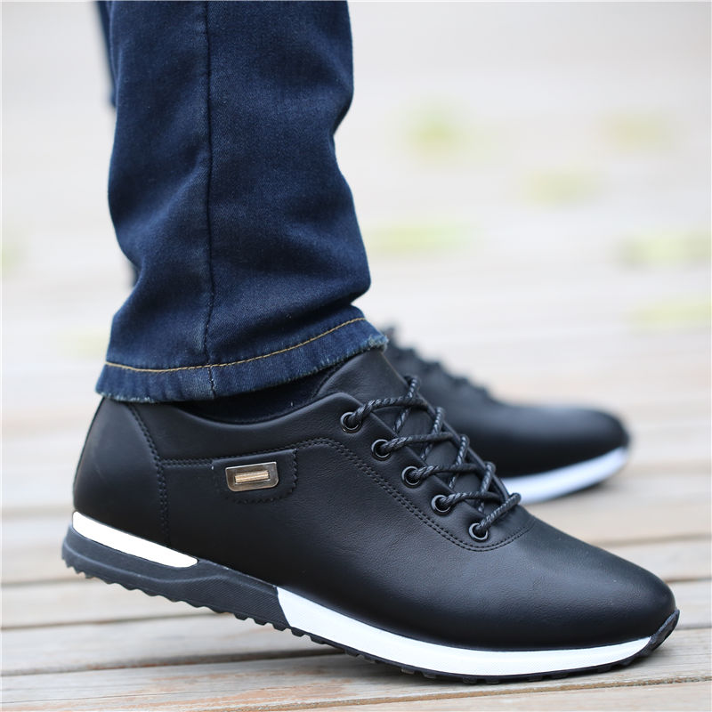 Men's Outdoor Breathable Sneakers Men's PU Leather Business Casual Shoes