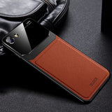Luxury Leather Mirror Case For iPhone