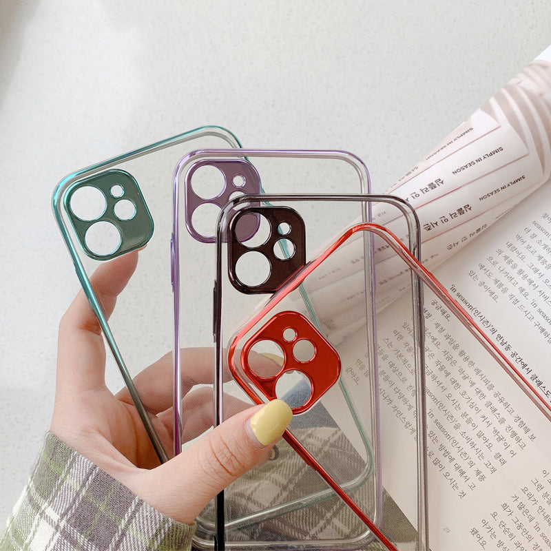 Luxury Transparent Silicone Plating Case For iPhone