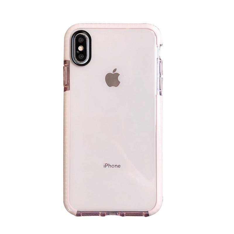 Transparent Soft Silicone Shockproof Case for iPhone
