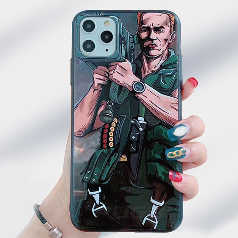 Cartoon Soft Silicone Frame Cannon Gun Phone Case for iPhone