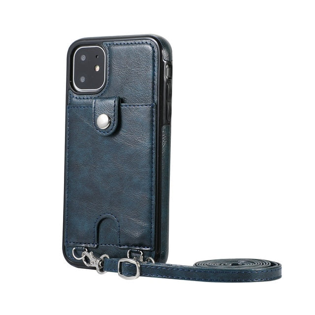 Luxury Card Slot Leather TPU Bumber for iPhone