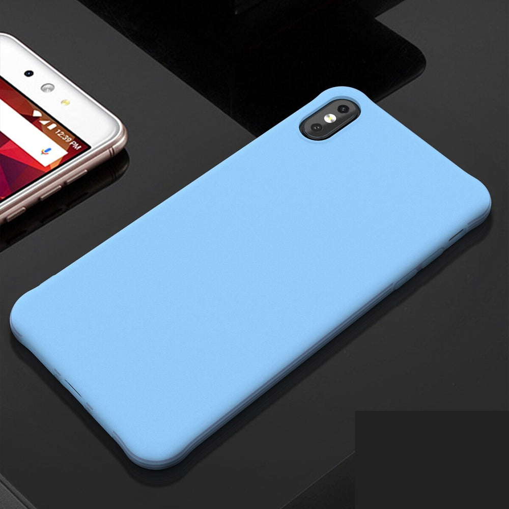 Silicone Style Shockproof Back Cover Case For iPhone