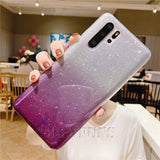 Shining Glitter Phone Case   Luxury Soft Silicone Cover  For Huawei