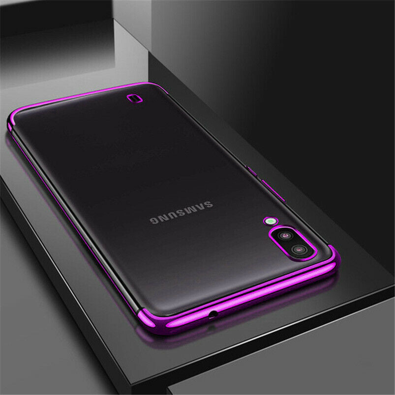 Plating TPU Soft Silicone Cases For Samsung