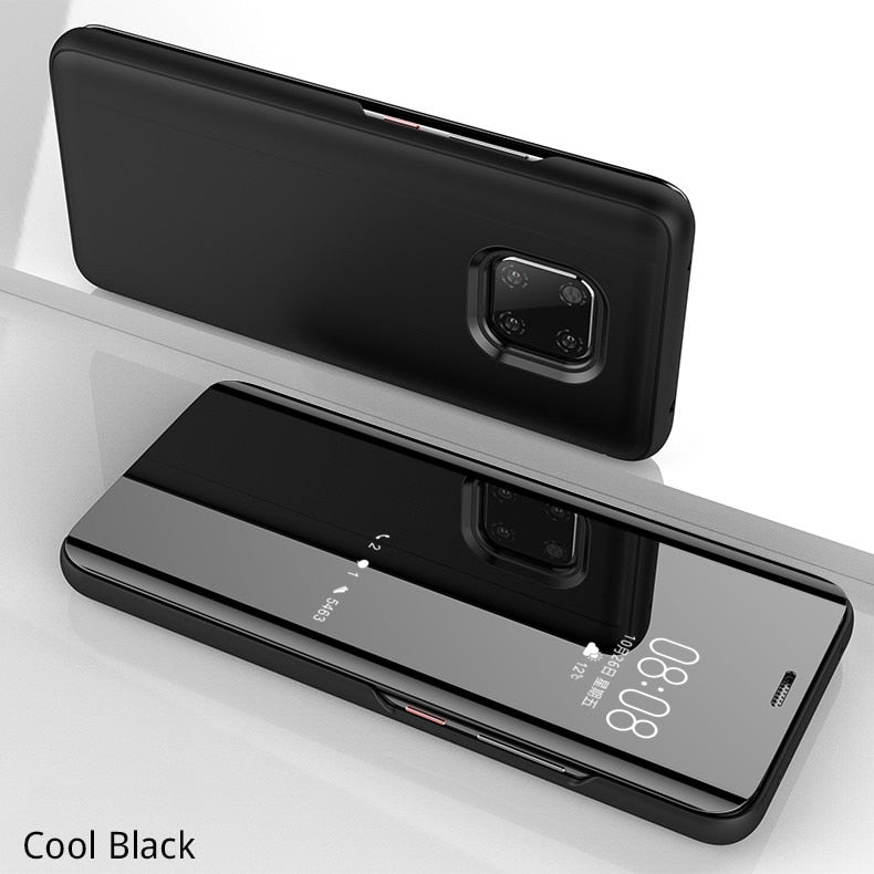 Smart Stand Clear View Flip Case  For Huawei
