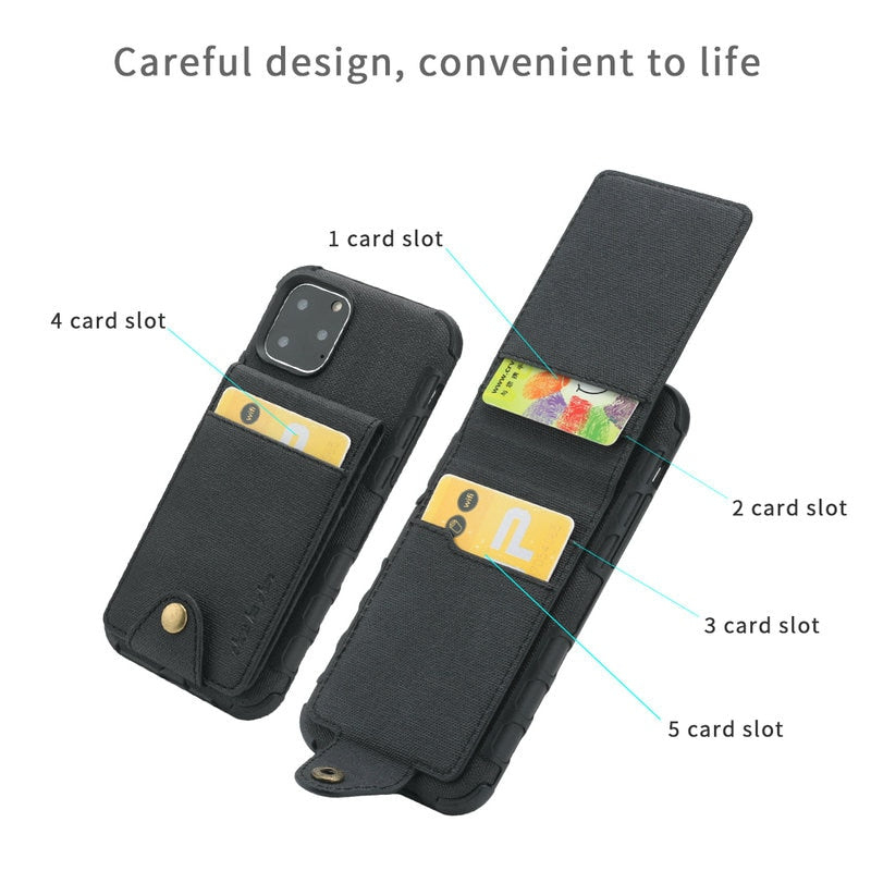 Luxury Cloth Card Slot Case for iPhone