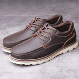Fashion Casual Leather Flat Men Casual Shoes