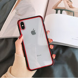 Colorful Bumper Transparent Shockproof Case For iPhone