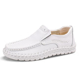 Fashion Genuine Leather Slip On Moccasins Men's Casual Shoes