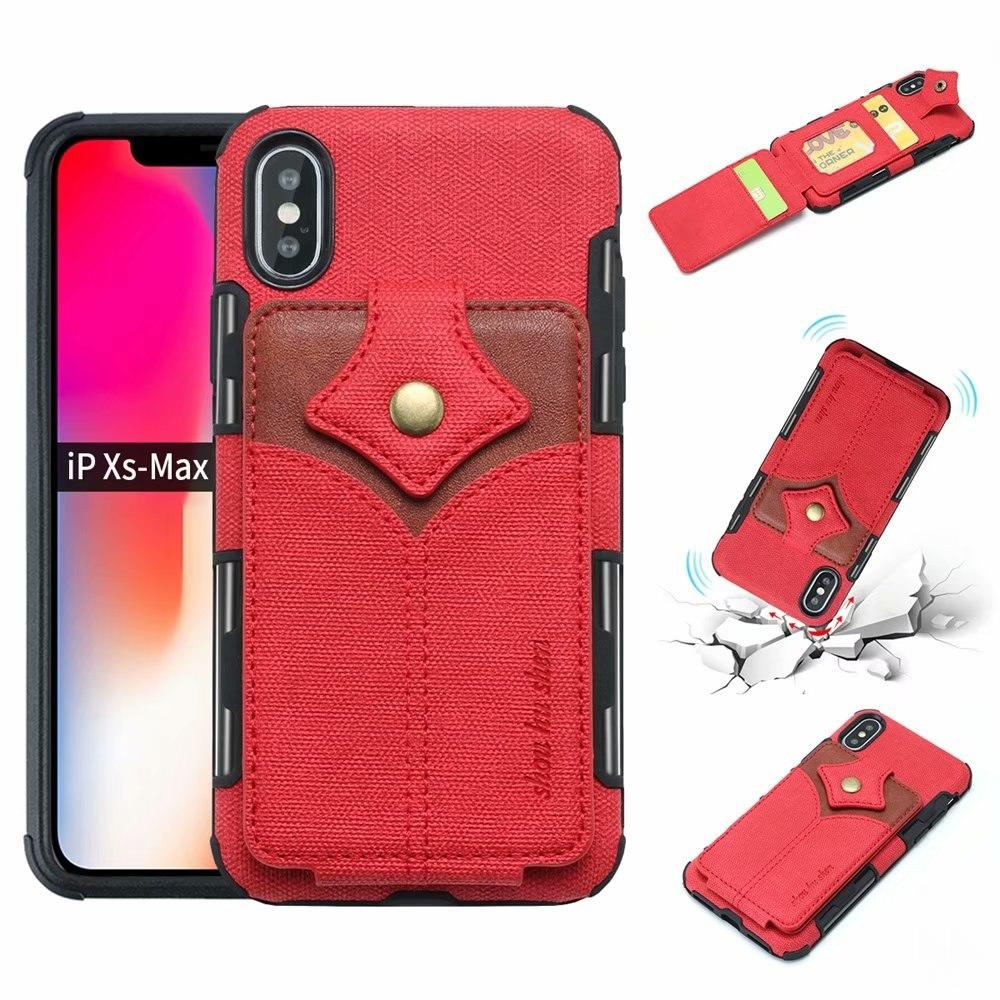 Anti-Fall Protection Card Slot Case For Samsung S8 S9+ Note 8 9