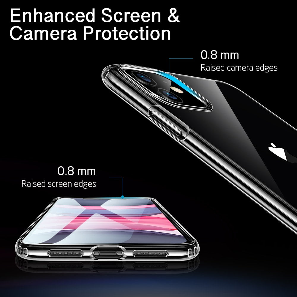 Ultra Thin Soft TPU Clear Bumper Cover for iPhone