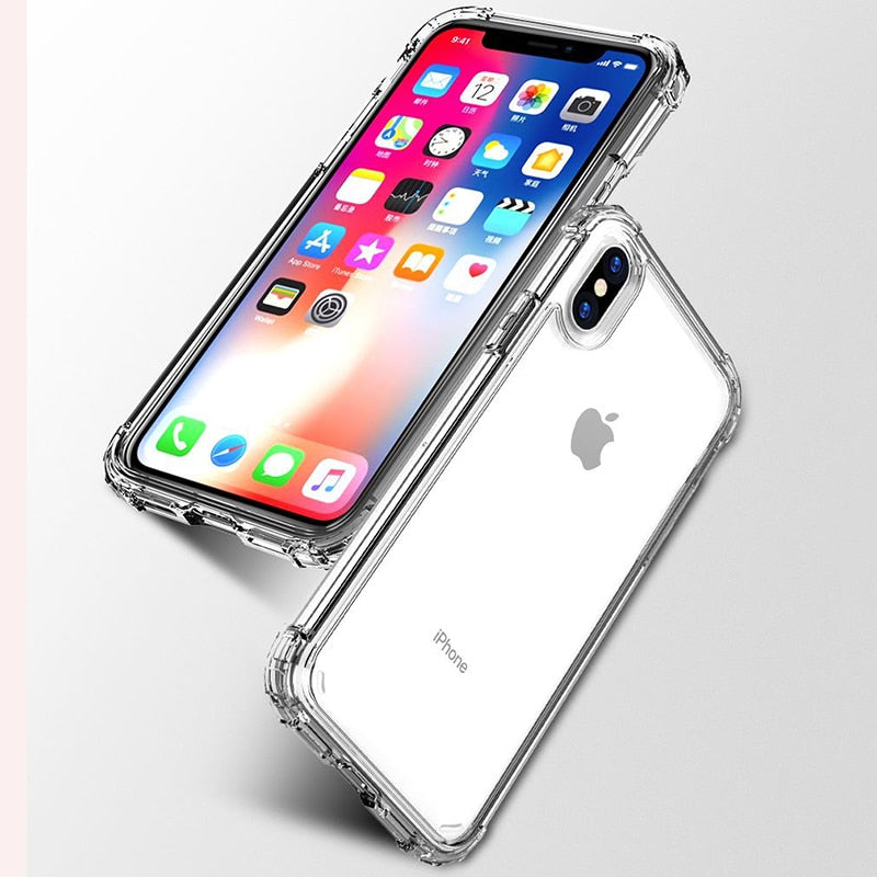 Shockproof Bumper Transparent Silicone Case For iPhone