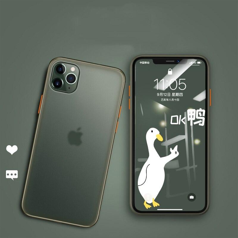 Luxury Hard Matte Phone Case For iPhone 11 Pro Max / 11 / 11 Pro