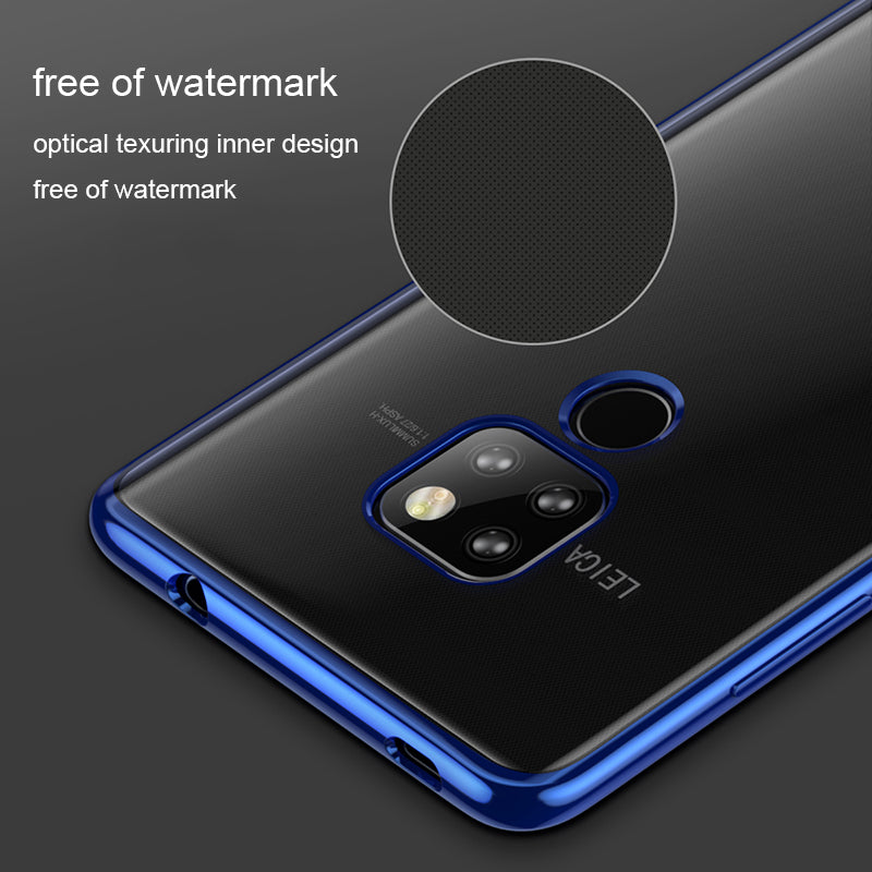 Transparent Plating Soft Silicone Case For Huawei