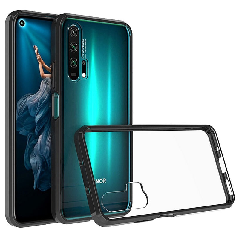 Crystal Hybrid Bumper Clear Hard Acrylic Case For Huawei