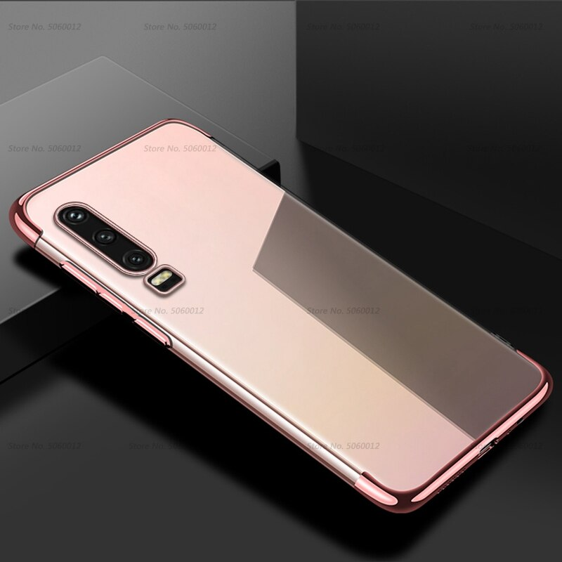Transparent Plating TPU Soft Case For Huawei