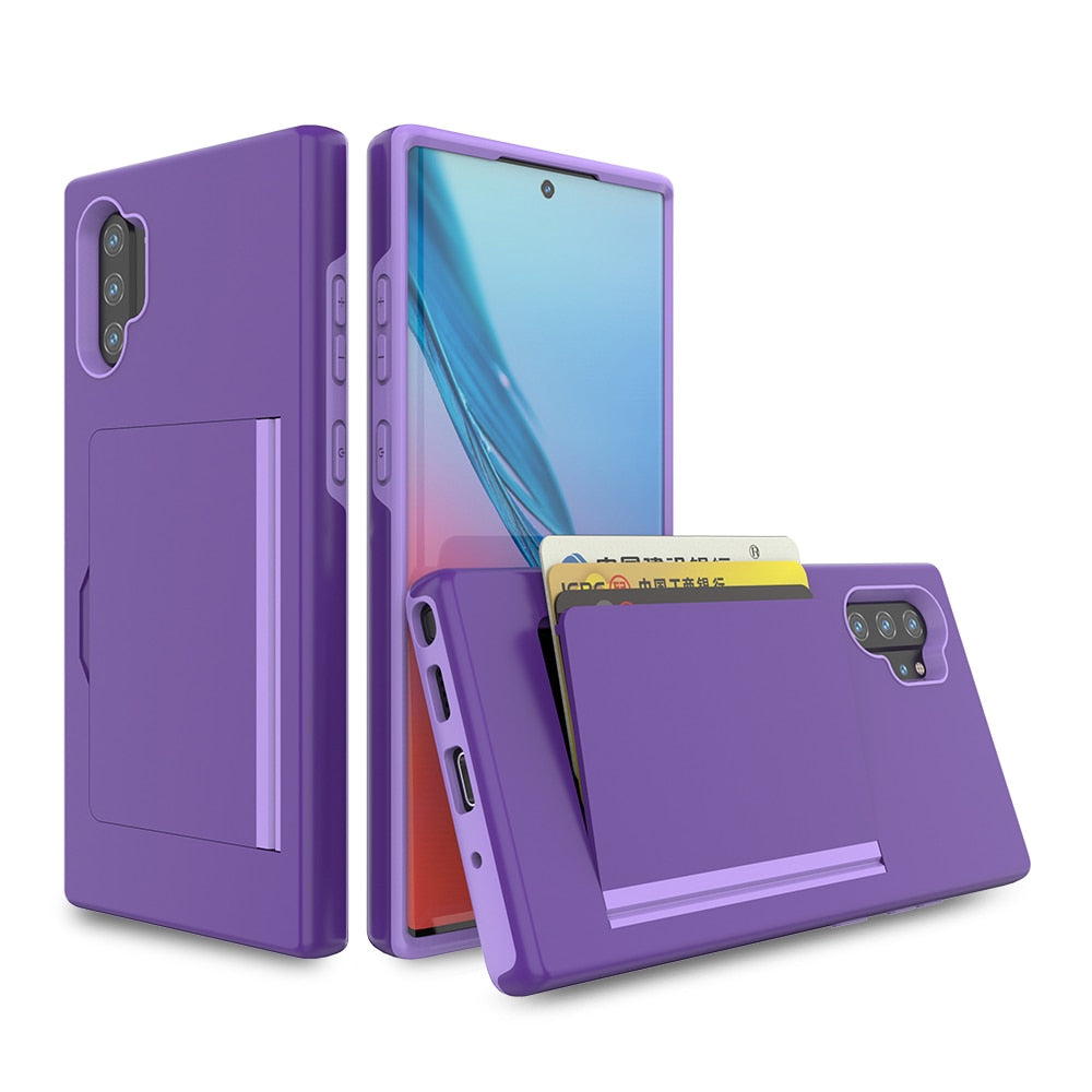 Shockproof Protective Card Slot Case For Samsung