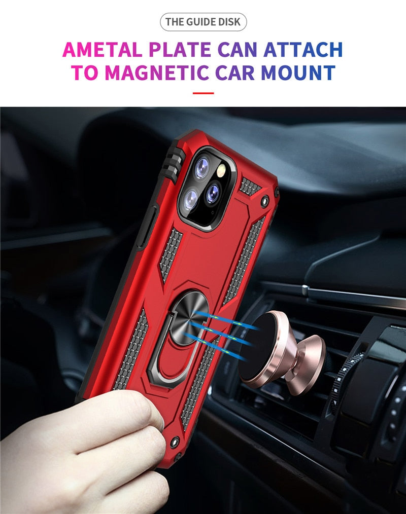 Hard PC + Soft TPU Phone Case For iPhone