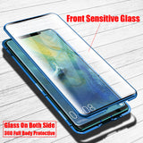 Magnetic Metal Armor Bumper Touch Glass Protector Cover  For Huawei