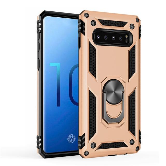 Car Magnet Case Armor Shockproof Phone Case For Samsung