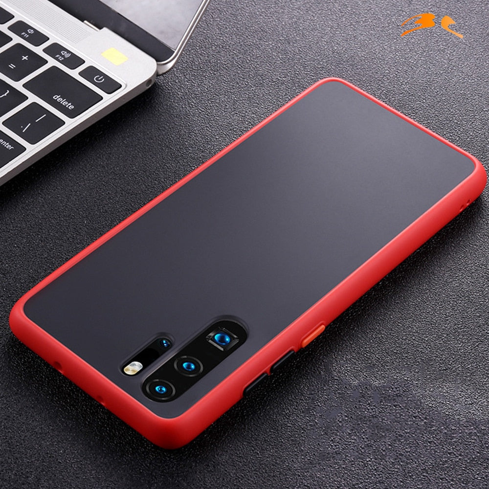 Transparent Matte Anti-fingerprint Case for Huawei