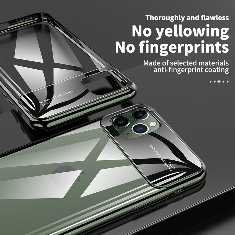 Luxury Mirror Glass Case For iPhone