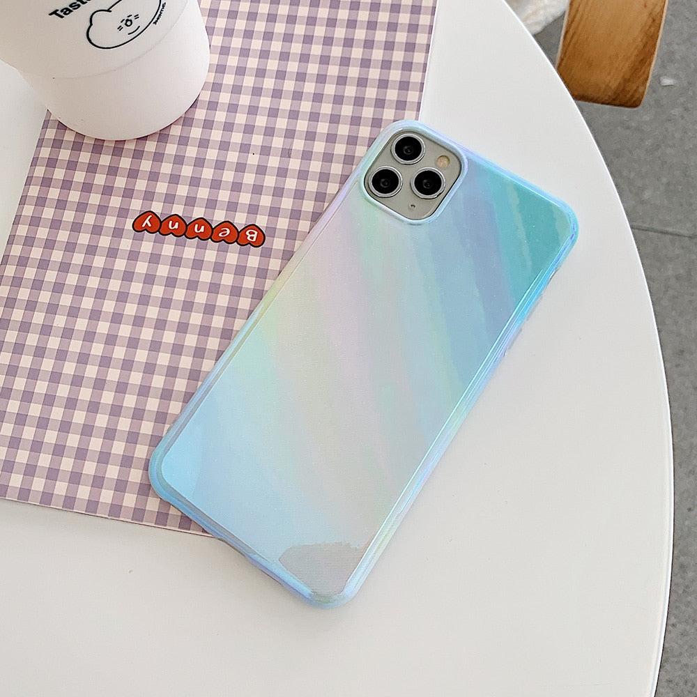 Rainbow Glitter Soft Case For iPhone
