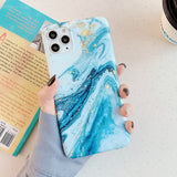 Vintage Gradual Color Marble Case For iPhone