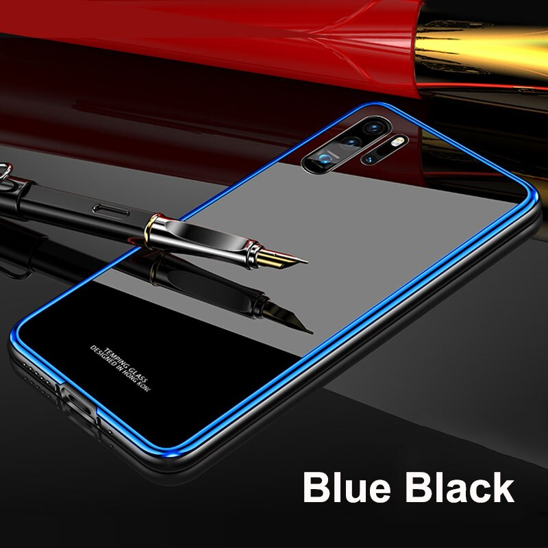 Metal Bumper  Glass Phone Case for Huawei
