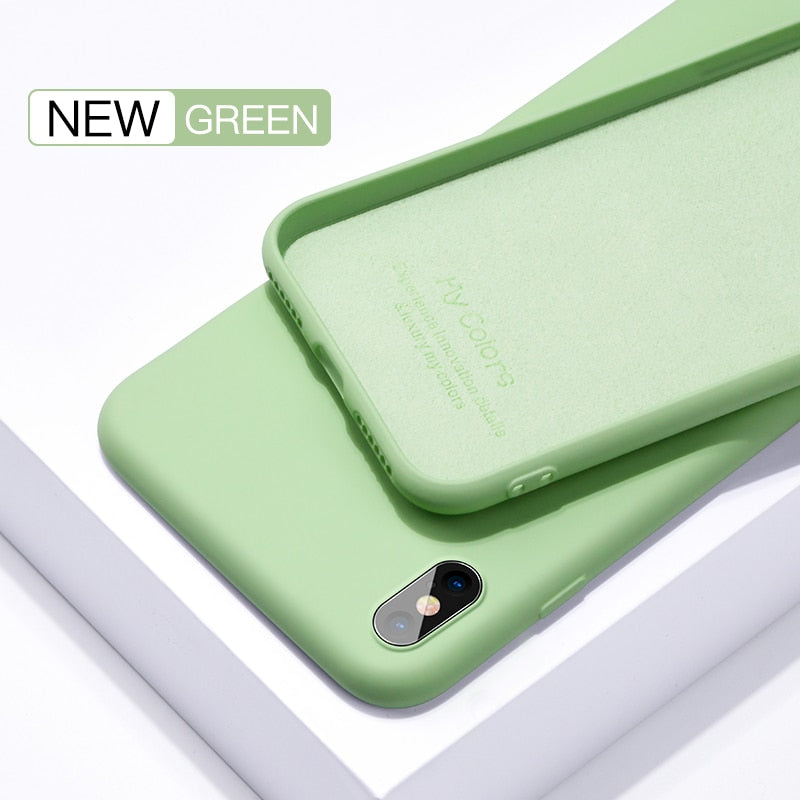 Liquid Silicone Thin Case For iPhone