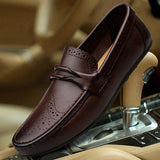 Fashion Genuine Leather Slip on Boat Men's Loafers