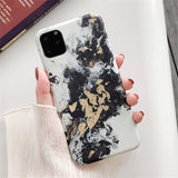 Colorful Marble Silicone Case For iPhone