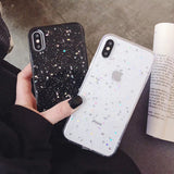 Glitter Bling Moon Stars Sequins Soft Case For iPhone