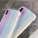 Gradient Rainbow Laser Colorful Case For iPhone