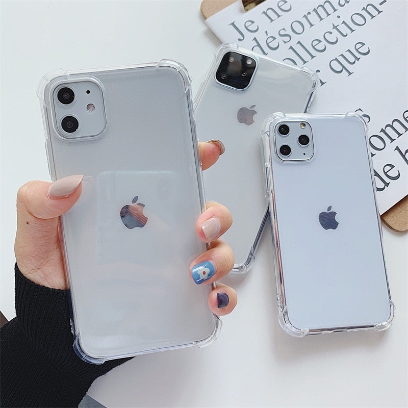 Luxury Anti-knock Transparent Case For iPhone