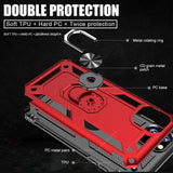 Luxury Armor Soft Shockproof  Metal Ring Case For iPhone