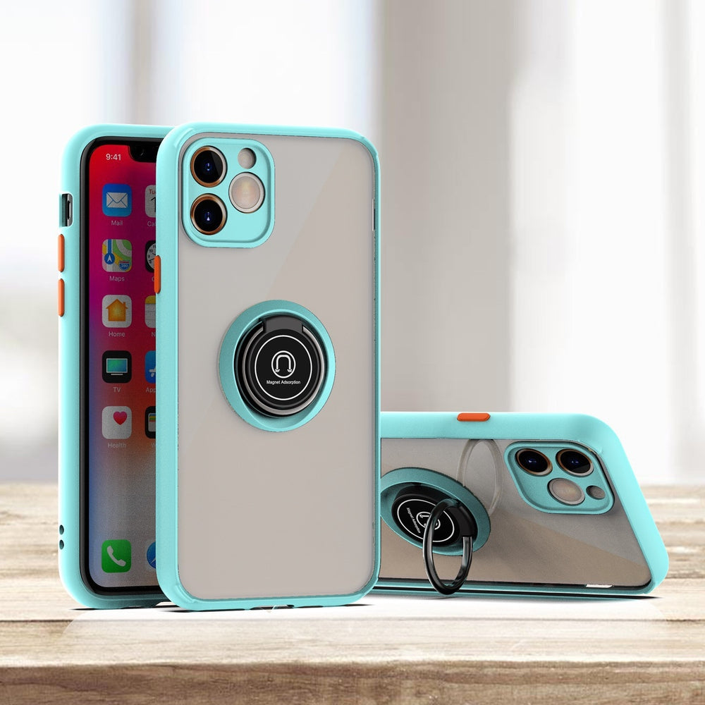 Luxury Ring Holder Camera Lens Protection Case For iPhone