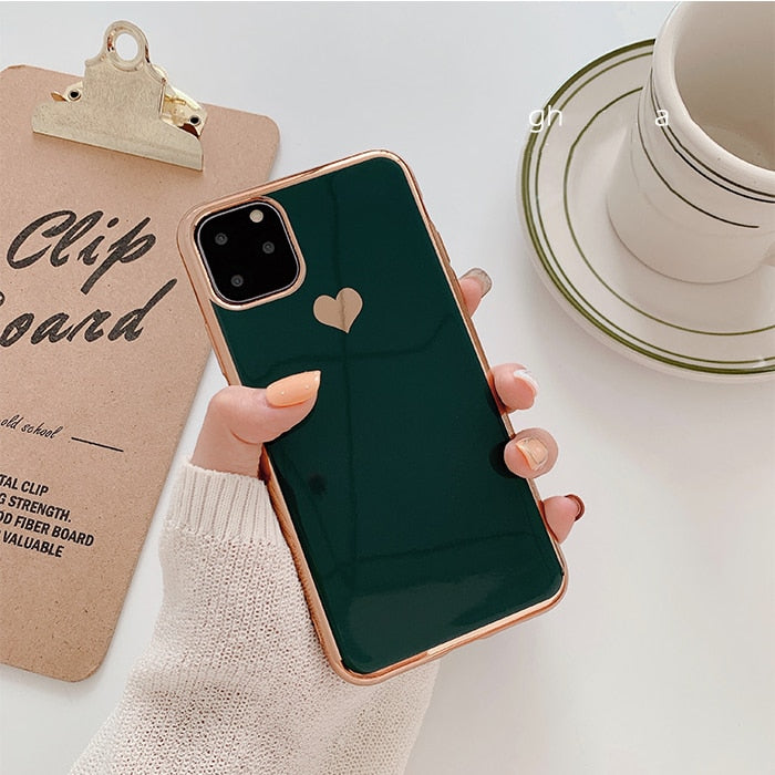 Luxury Case Soft Plain Back Cover For iPhone