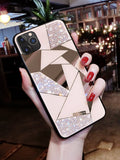 Luxury Mirror Rhombus Phone Case For iPhone