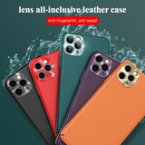 Luxury Leather Ultra Thin Soft Case For iPhone