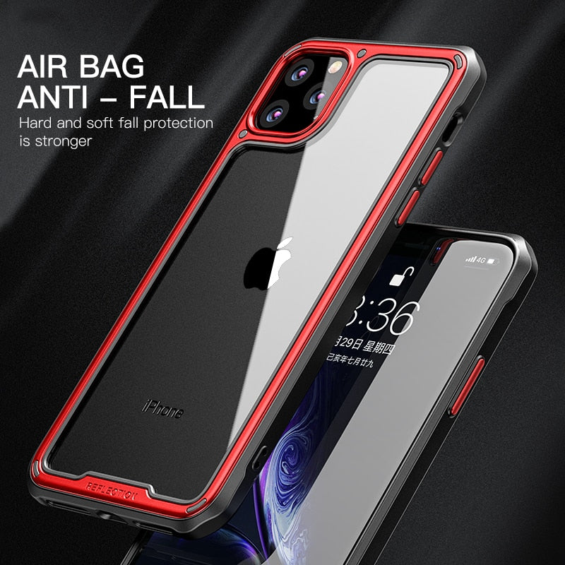 Luxury Plating Fashion Silicone Transparent Case For iPhone