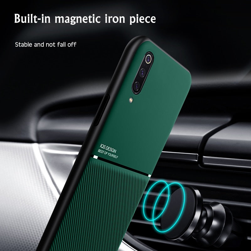 Luxury Silicone Magnetic Car Holder Case For Xiaomi