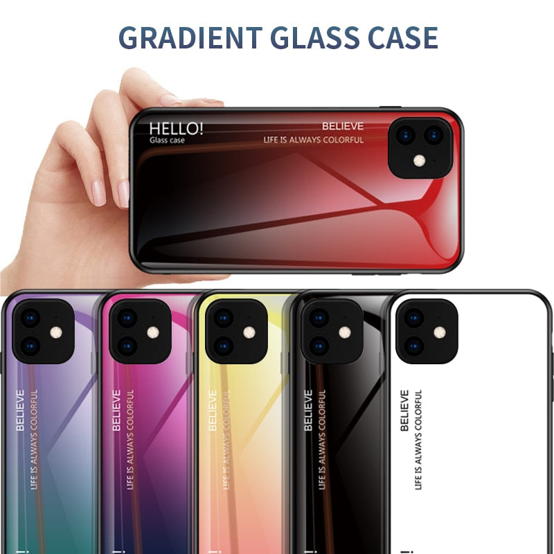 Luxury Temper Glass Case for iPhone