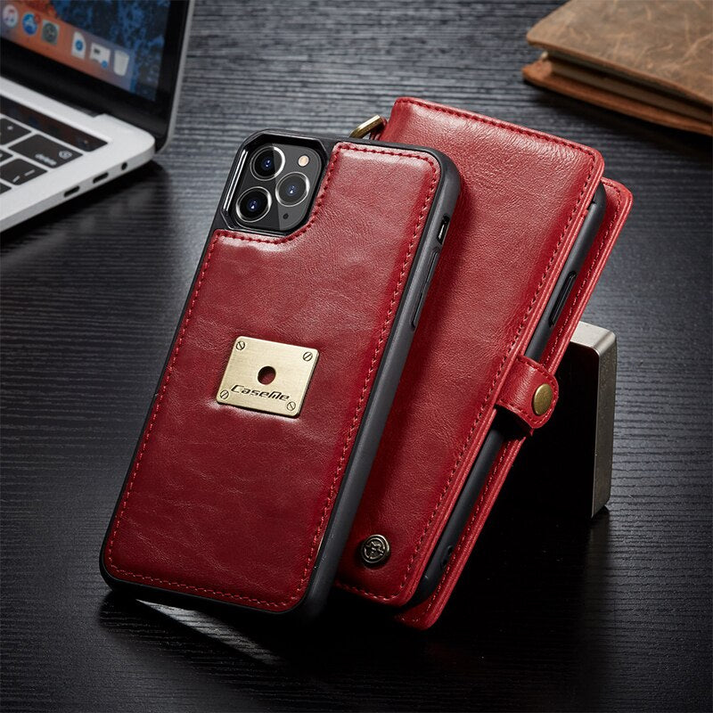 Luxury Magnet Flip Leather Wallet Case For iPhone 11/ Pro/ Max